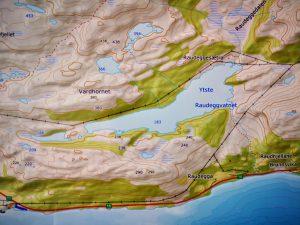 Kartet viser området ved vatnet.